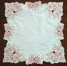 Advanced Embroidery Designs - Elegant Rose Table Set