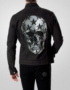 "denim jacket ""stars skull"" - Philipp Plein - For the men- Autumn - New Arrivals"