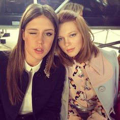 Adele Exarchopoulos and Lea Seydoux - Miu Miu Fall 2014