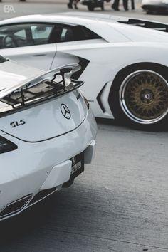 Lamborghini and Merc