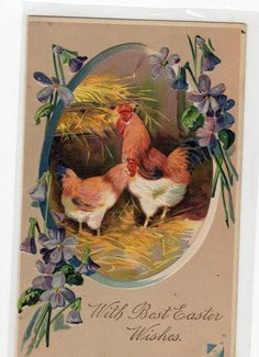 Easter Vintage postcard with Chicks and by sharonfostervintage, $1.25