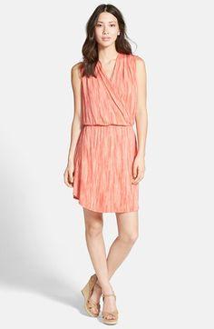 Caslon® Sleeveless Surplice Dress (Regular & Petite) available at #Nordstrom