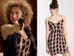 River Song Doctor Who Cosplay Ecote Urban Outfitters Sparkle and Fade Dress L   eBay
