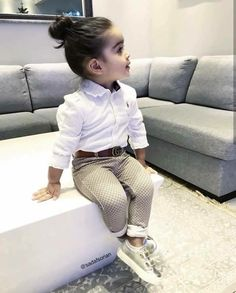 Beautiful outing wears for the kids - DarlingNaija Cute Little Girls Outfits, Toddler Girl Outfits, Baby Girl Dresses, Baby Dress, Cute Kids Fashion, Little Girl Fashion, Toddler Fashion, Outfits Niños, Baby Swag