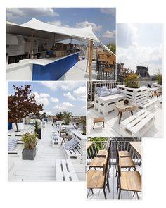 Terrasse éphémère la plus branchée : le Perchoir BHV, 37 rue de la Verrerie, Paris 4ème. Ouvert tous les jours du 15 juin au 31 octobre 2015, de 20h15 et jusqu'à 2h, le dimanche à partir de 12h30 et le mercredi à partir 21h15.