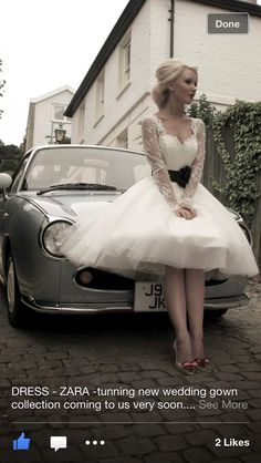 50s short wedding dress..I would totally wear this for my wedding day... my top choice!! LOVE IT