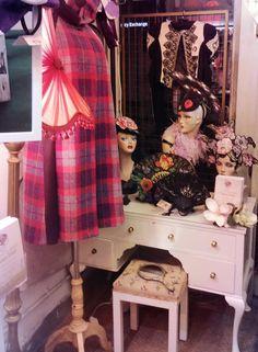 At 175 Portobello Road - our dressing table display. #PortobelloRoad #HatShop #FlowerHeadpieces www.saratiara.com