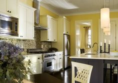 Might Be One Of My Fav Yellow/gray Kitchen Designs.