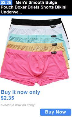 Man Underwear: Mens Smooth Bulge Pouch Boxer Briefs Shorts Bikini Underwear Underpants Trunks BUY IT NOW ONLY: $2.35