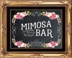 printable mimosa bar sign wedding mimosa bar by OurFriendsEclectic