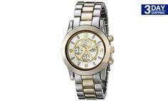 Get 28% #discount on XOXO Women's XO5556 Two-Tone Bracelet Analog Watch #onlinedeals
