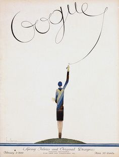 Vogue Cover Februrary 2, 1919 by Georges Lapape