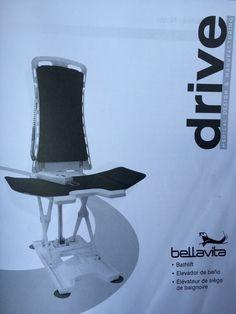 Drive Medical Bellavita Auto Bath Tub Chair Seat Lift, Grey New 477200432 #BellaVita