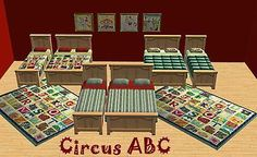 Mod The Sims - Bedding For Kids~Matching Bedspreads to Floor Art for Kids