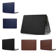 Nyheter Sterke farger slank luksus lær full body sak deksel for MacBook Air 13.3 (assorterte farger) – NOK kr. 228