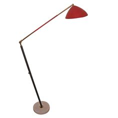 Stilux Italian Articulated '50s Floor Lamp   From a unique collection of antique and modern floor lamps  at http://www.1stdibs.com/furniture/lighting/floor-lamps/