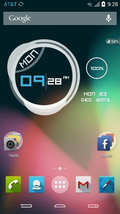 An Android 4.1 Home Screen.