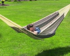 Comfortable Durable Outdoor XXL Thick Cord Mayan Hammock In Black And Natural