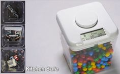 Weight loss tool: Smart cookie jar time locks food (smash it if you can't resist temptation)