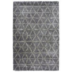 Homemaker Grey Shaggy Pattern Rug | Home & Garden | George at ASDA