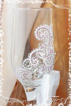 Декор предметов Свадьба Роспись Свадебные бокалы Восточная тайна  фото 3
