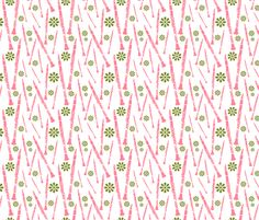 Clarinets and Flowers fabric by marchingbandstuff on Spoonflower - custom fabric