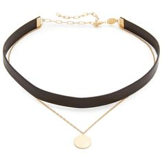 Jennifer Zeuner Jewelry Ivy Eugenia Choker Necklace (£76) ❤ liked on Polyvore featuring jewelry, necklaces, choker, accessories, leather chain necklace, leather choker necklaces, chain choker, choker necklace and adjustable necklace