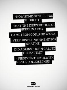 Non biblical evidence for John The Baptist.