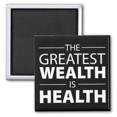 Health Is Wealth Workout Gym Inspirational Magnet - home gifts cool custom diy cyo Gym Workouts, At Home Workouts, Calisthenics Workout Routine, Emergency Hospital, Logo Template, Stress, Gym Decor, Gym Quote, Health Promotion