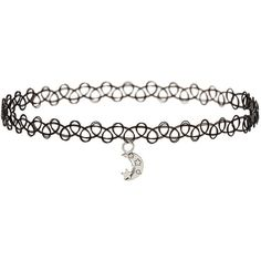 Miss Selfridge Moon And Flower Choker Pack (12.050 CLP) ❤ liked on Polyvore featuring jewelry, necklaces, accessories, chokers, silver, tattoo choker, heart necklace, choker necklace set, stretch choker and flower choker necklace