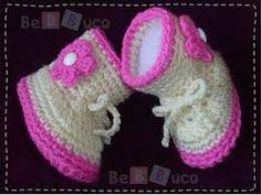 zapatos crochet bebe mas patron - Buscar con Google