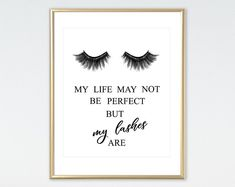 435d51fae9 Eyelashes Print Lashes Studio Lashes Print Salon Decor Funny Eyelashes  Quote Makeup Decor Lashes Wal