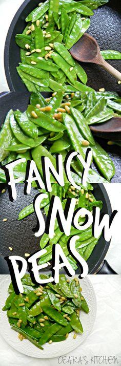 Fancy snow peas with truffle oil @cearaskitchen #vegan #glutenfree