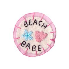 Beach Babe Patch (106.825 IDR) ❤ liked on Polyvore featuring bags, fillers, fillers - pink, pastel, extras, kawaii, beach bag, leather beach bag, real leather bags and pink beach bag