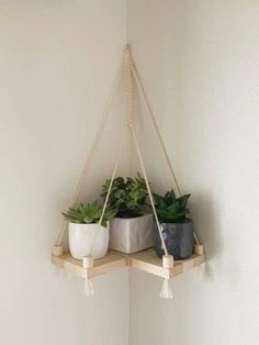 Diy Hanging Shelves, Plant Shelves, Floating Shelves, Hanging Bookshelves, Floating Plants, Wall Shelf Decor, House Plants Decor, Plant Decor, Diy Home Decor