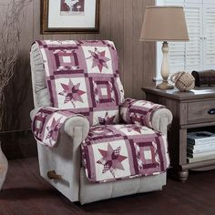 Innovative Textile Solutions Star Quilt Recliner Slipcover,