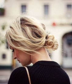 perfect low messy bun