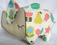 Retro Japanese Fabric Elephant Toy