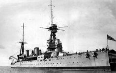 British Battle Cruiser HMS New Zealand. New Zealand fought in the Battle of Jutland on May 1916 Ww1 Battles, Capital Ship, Naval History, Military History, Man Of War, Navy Ships, Aircraft Carrier, Royal Navy, South Australia