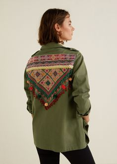 d925eaed310552 Mango Bead Embroidered Overshirt - 2