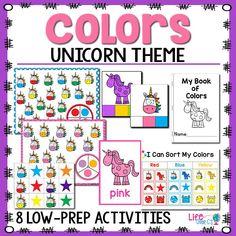 Unicorn Color Activities for Preschool   lifeovercs
