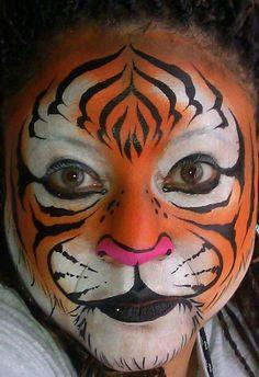 Auburn Tiger facepaint