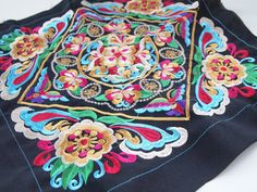 Hmong Thai Embroidered Hobo Boho Fabric by LannaThaiCreations