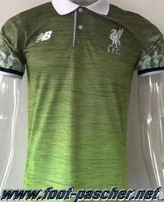 Polo Foot FC Liverpool Vert 2017 2018 Moins Cher