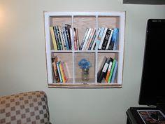 Turning my old window into a bookshelf