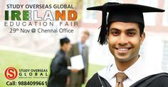 Haven't registered yet for upcoming Ireland Fair at Chennai? Hurry, just 12 days to go!! Visit: http://myeducationfair.in/ today and fulfill your study abroad dreams. #StudyOverseas #Irelandfairs #StudyOptions #Scholarships #BestInstitutions #Chennai #29November2016