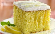 Betty Crocker Lemonade Party Cake- This moist lemon cake drizzled and filled with an easy lemon filling will remind you of summer any time of year. Lemon Desserts, Lemon Recipes, Just Desserts, Delicious Desserts, Poke Cakes, Cupcake Cakes, Cupcakes, Cake Mix Recipes, Desert Recipes
