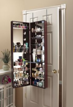 Make Up Organizer Mirror - Cosmetic Armoire - My lover will make this for me :)