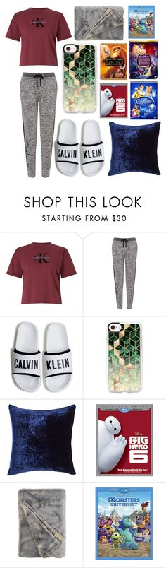 """Movie night (RTD)"" by otterspace ❤ liked on Polyvore featuring Calvin Klein, Casetify, Aviva Stanoff and Disney"