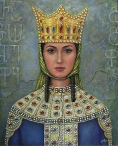 St. Queen Tamar the Great of Georgia (1160-1213, r. 1184-1213).